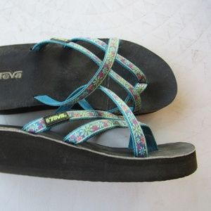 Blue Teva Strappy Sandals Size 10